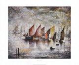 Segelboote Poster von Laurence Stephen Lowry