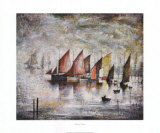 Sailing Boats Posters by Laurence Stephen Lowry