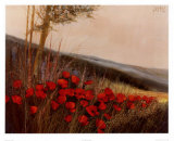 Field of Poppies Prints by G. Michaud