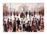 The Prayer Meeting Posters af Laurence Stephen Lowry