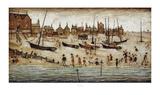 Der Strand Kunstdrucke von Laurence Stephen Lowry
