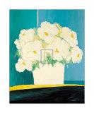 Fleurs Blanches au Pot Blanc Prints by B. Payet