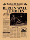 Historic Headlines - Berlin Wall Tumbles Poster London Herald, November 9, 1989