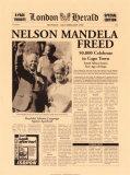 Nelson Mandela Freed Poster af  The Vintage Collection