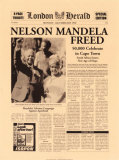 Nelson Mandela Freed Poster by  The Vintage Collection