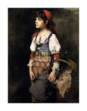 Country Girl Art by Alexei Alexeivich Harlamoff
