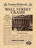 Historic Headlines- Wall Street Crash Poster, London Herald, October 25, 1929