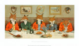 Mr. Fox's Hunt Breakfast Poster van H Neilson