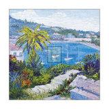 Le Banc de Pierre a Villefranche-Sur-Mer Art by T. Forgione