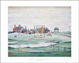 Landschaften mit Farmhäusern, 1945 Kunstdrucke von Laurence Stephen Lowry