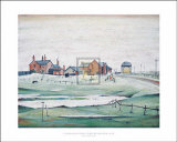 Landscapes with Farm Buildings, 1945 Prints by Laurence Stephen Lowry