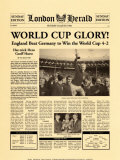 Historic Headlines - 1966 World Cup Poster, London Herald, July 30, 1966