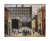 Straßenszene, Pendlebury Kunst von Laurence Stephen Lowry