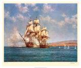 Il fumo della battaglia Stampa di Montague Dawson