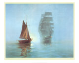 Night Mists Posters by Montague Dawson