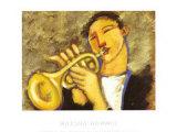 Trumpet Poster by Marsha Hammel