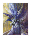 Delphiniums on a Window Sill Prints by Elizabeth Parsons