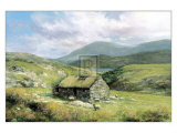 Cottage Near Conor Pass Posters af Clive Madgwick