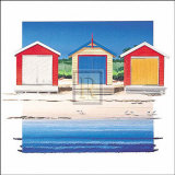 Boat Shed Colour Prints by B. Walsh