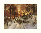 Through the Calm and Frosty Air Print by Joseph Farquharson