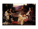 Saint Cecilia, 1895 Art by John William Waterhouse