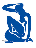 Blå akt Poster av Henri Matisse