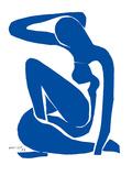 Blauer Akt (Erinnerung an Biskra) Kunstdrucke von Henri Matisse
