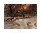 The Shortening Winter's Day Kunst af Joseph Farquharson