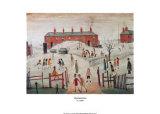 Der Schulhof Kunstdruck von Laurence Stephen Lowry