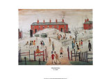 The Schoolyard Print by Laurence Stephen Lowry