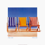 Summer Stripes Poster by B. Walsh