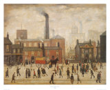 Coming Home from the Mill Láminas por Laurence Stephen Lowry
