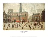 På väg hem från fabriken Affischer av Laurence Stephen Lowry