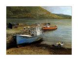 Barcos de pesca en el lago Connemara Pósters por Clive Madgwick
