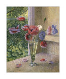 Poppies in a Glass Art by J. Morley