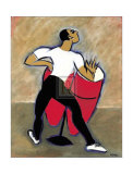 Red Congas Poster by Marsha Hammel