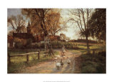 The Goose Girl Prints by Peder Mork Monsted