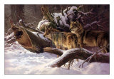 Wolves in Winter Prints by D. Van Heerde