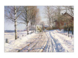Winter Scene Posters by Peder Mork Monsted
