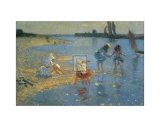 Walberswick, Children Paddling Prints by Philip Wilson Steer