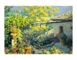 Tuscan Terrace Print by Gordon Breckenridge
