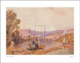 Figuren am Arno bei Florenz Kunstdrucke von A. Vickers