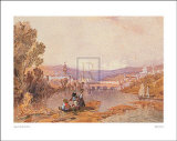 Figures Beside the Arno Near Florence Prints by A. Vickers