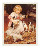 Tea-Time Print by Arthur John Elsley