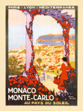 Monte Carlo, Monaco Prints by Roger Broders