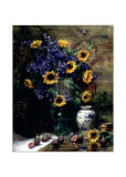 Sunflowers and Figs Poster by F. Janca