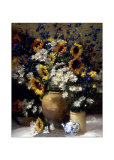 Sunflowers and Teapot Prints by F. Janca