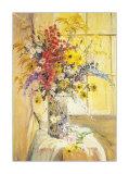 Fenêtre fleurie Art par Elizabeth Parsons