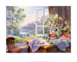 Wild Flowers and Summer Wine Poster by Stephen Darbishire