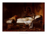 The Death of Cleopatra Prints by Jean Andr&#233; Rixens